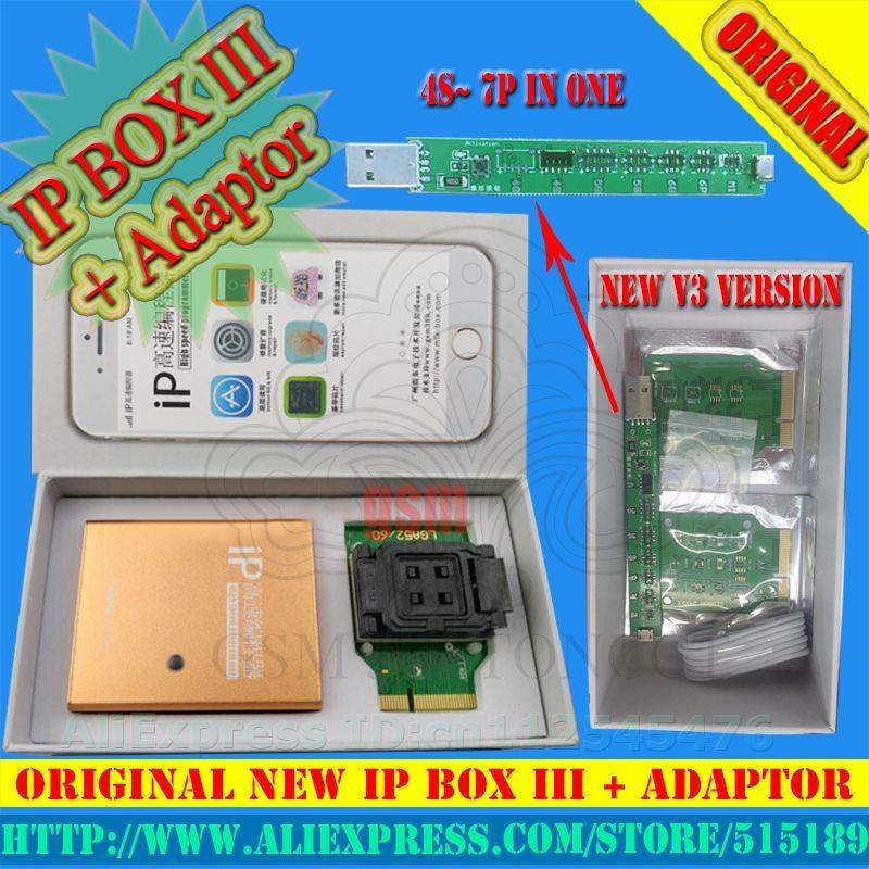 IP BOX3 ip haute vitesse programmeur pour téléphone pad disque dur programmers4s 5 5c 5S 6 6 plus mise à niveau de mémoire outils 16g to128gb