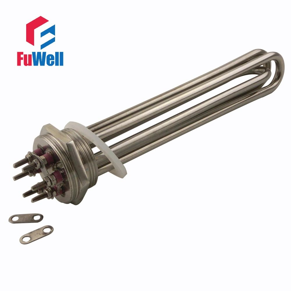 304 Stainless Steel 3U Tube Bundle Electric Water Heater Element for Water Tank  DN40/1.5inch/47mm