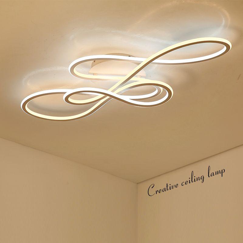 Double Glow modern led Chandelier for living room bedroom lamparas de techo dimming ceiling chandeliers lamp fixtures