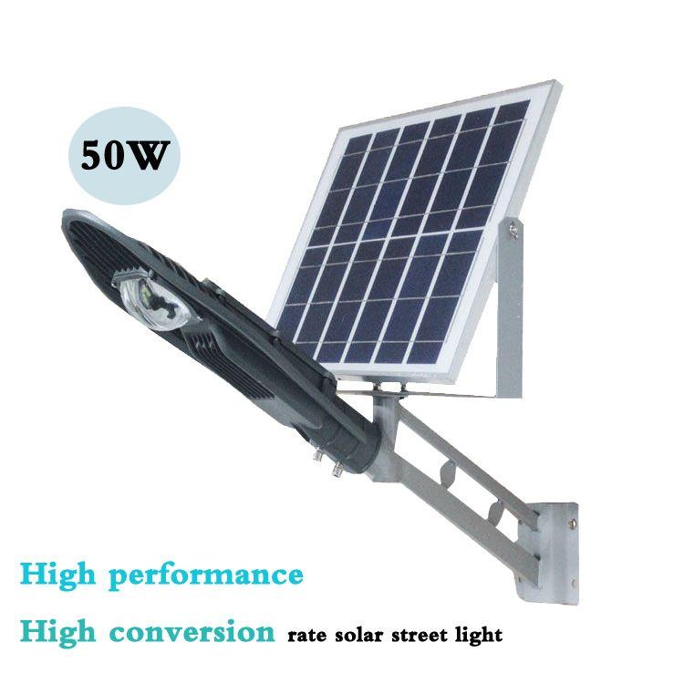 50W high performance intelligent solar street lamp projection lamp courtyard lamp outdoor lamp intelligent light control