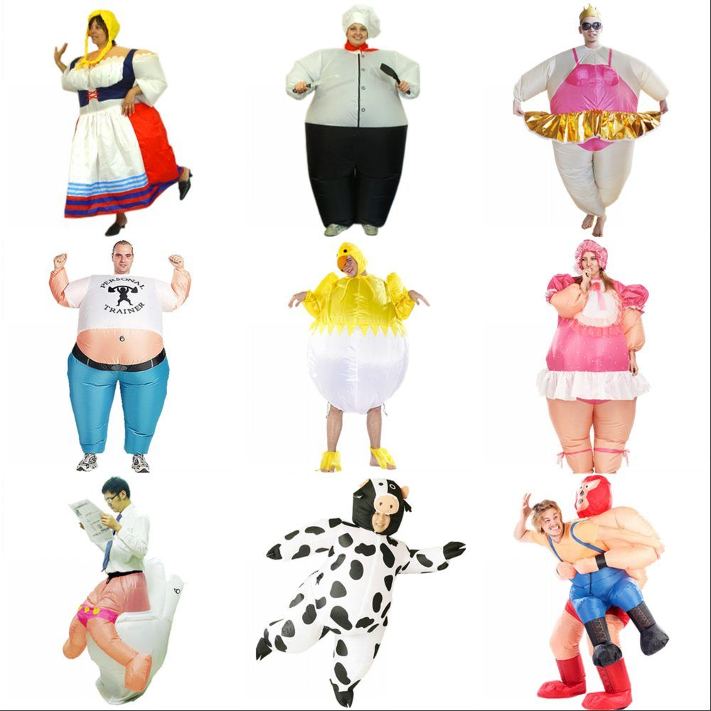 New Inflatable Costume For Adult Kids Fan Horse Cow Unicorn Dinosaur Funny Cosplay Inflatable Costume Wholesale Funny Costume