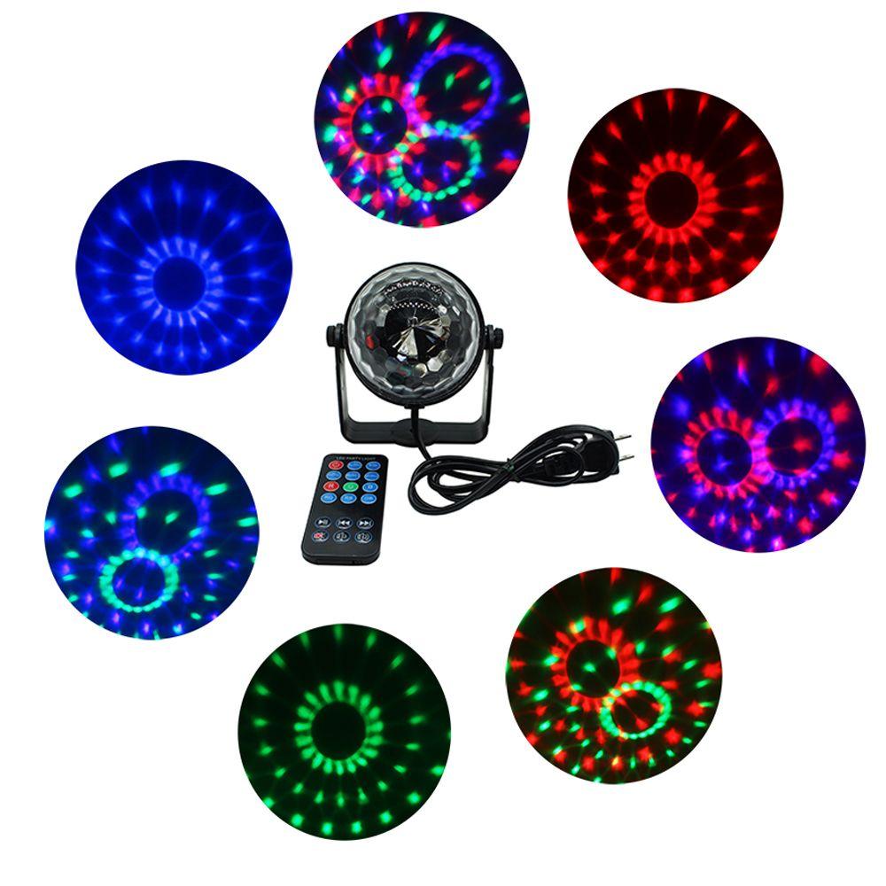 SXZM Mini 3 Watt geführt bühne licht mit fernbedienung AC85-265V Sound aktiviert Kristall Disco-Kugel licht für Party, KTV, Bar etc.