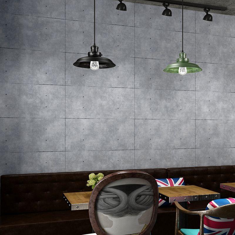 Vintage Grau Zement Tapete Für Wohnzimmer Bar Restaurant Cafe Kleidung Shop Decor 3D Gitter PVC Vinyl Wand Papier Ziegel