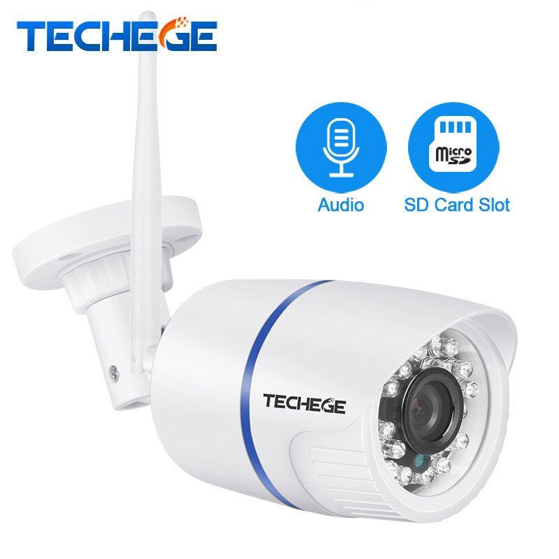Techege 720P 960P 1080P WIFI IP Camera HD <font><b>2.0MP</b></font> Audio wifi Camera Night Vision TF Card Slot Wireless Wired CCTV Camera P2P Onvif