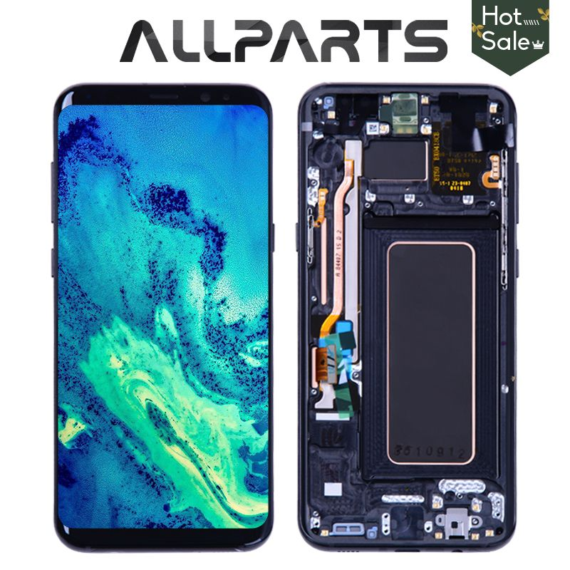 Original Amoled-display für SAMSUNG Galaxy S8 Bildschirm Ersatz LCD Touch Digitizer Montage S8 Plus LCD G950 G950F G955 G955F