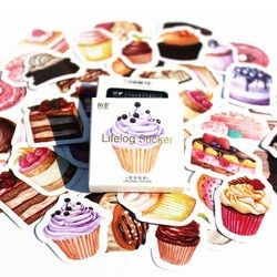 40 Pcs/pack Sweet Cake Classic Kawaii Style Graffiti Stickers For Moto Car & Suitcase Cool Laptop Stickers Skateboard Sticker