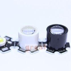 10 pcs Hitam Putih 10 Derajat LED LENS Reflector Kolimator 14.5mm Untuk 1 W 3 W 5 W Tinggi Star daya LED Light