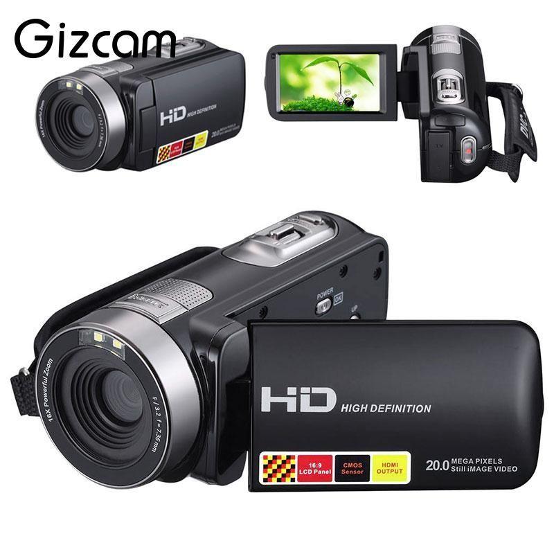 Gizcam 1080P Night Vision Digital Camera Recorder Camcorder DV DVR 3.0'' LCD 16x Zoom Consumer Camcorders