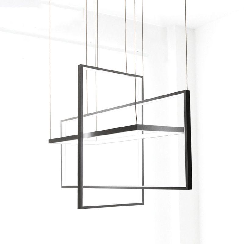 Kreis Anhänger Lichter für wohnzimmer Schlafzimmer büro und küche hängen lichter lustre de plafond moderne Schwarz Anhänger Lampe LED