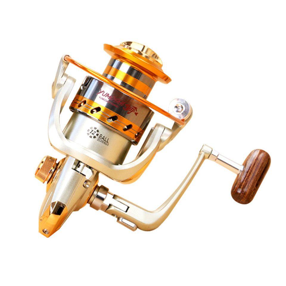 2017 Nouveau EF500-9000 Série En Aluminium Moulinets De Pêche 12BB Roulements À Billes Type Bobine Anti corrosion de l'eau de mer rouleau de pêche