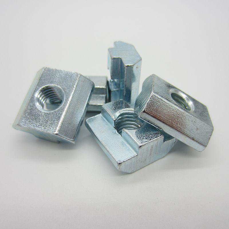 100 pièces M3 M4 M5 M6 M8 M10 T bloc écrous carrés t-track écrou de marteau coulissant pour fixation profilé en aluminium 2020 3030 4040 4545