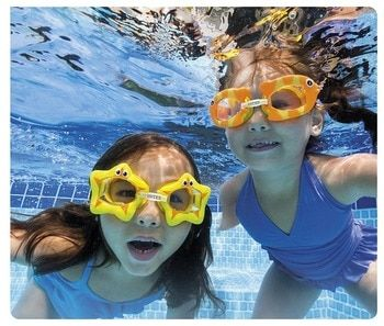 INTEX Swimming Pool Cartoon Play Goggles for Kids and Children