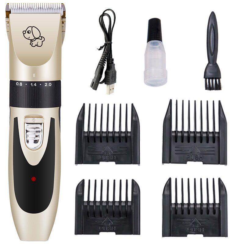 USB Rechargeable Professionnel Chien Chat Cheveux Clipper Avec 5 Vitesse Réglable Lame Toilettage Hair Remover Machine Tondeuse pour Animaux de Compagnie