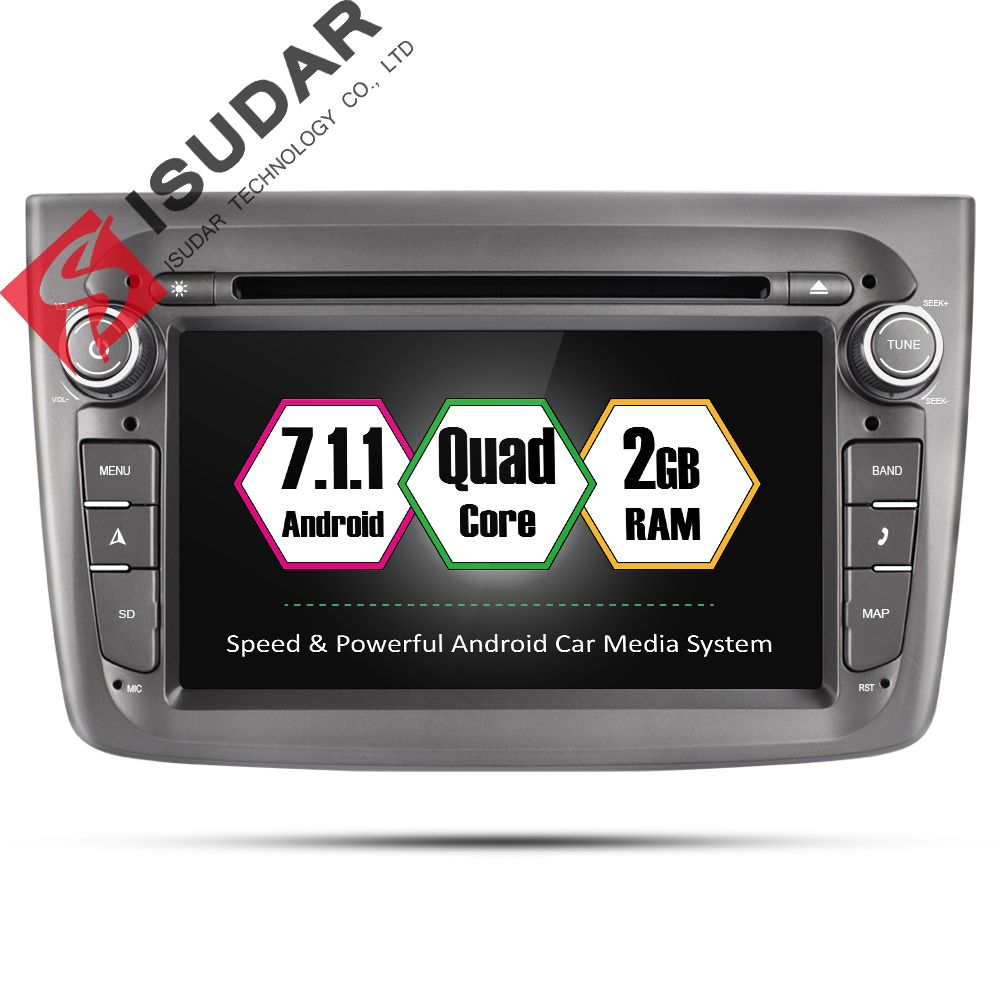 Isudar Car Multimedia player 1 din Auto DVD android 7.1.1 7 Inch For Alfa Romeo mito 2008- Quad Core 2G RAM Radio FM GPS USB DVR