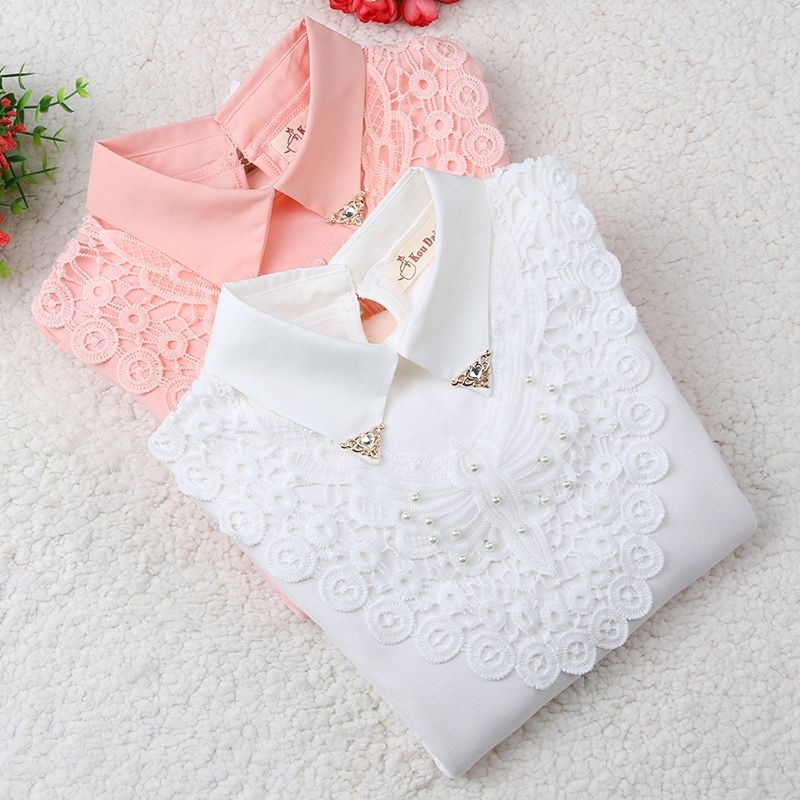 Girls Blouse 2018 Spring Baby Girl Clothes Children Clothing School Girl Blouse Cotton Child Shirt Blusas Kids Clothes 2-14Y