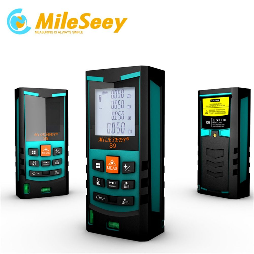 Mileseey S9 60M Laser Distance Meter Laser rangefinder Measuring Tool Blue with Dual Bubble