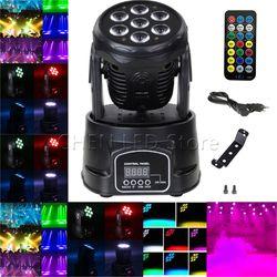 Chegada nova RGBW LED Luz de Palco DMX-512 Led Moving Head Feixe De Luz Festa de Natal Xmas Dj Disco DMX Som Ativa luz 1/5/10X