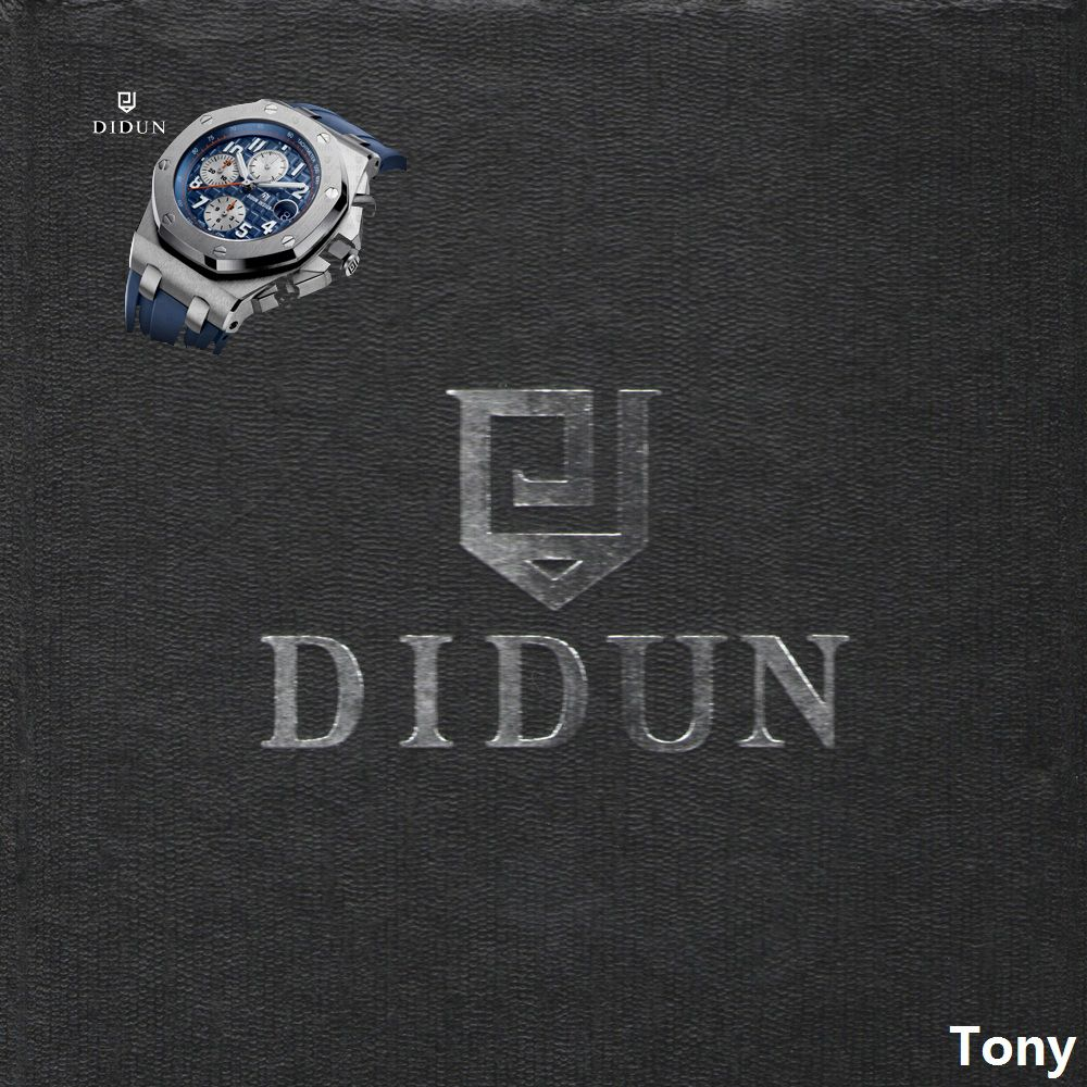 DIDUN watch Mens Top Brand Luxury Quartz Watch Men Military Chronograph Sports Watch <font><b>Shockproof</b></font> 30m Waterproof Wristwatch