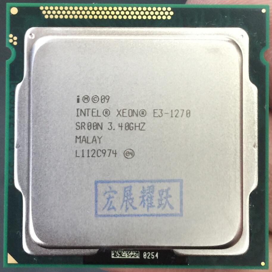 Intel  PC Laptop CPU Xeon  Processor E3-1270    E3 1270  Quad-Core LGA1155 PC Computer Desktop CPU