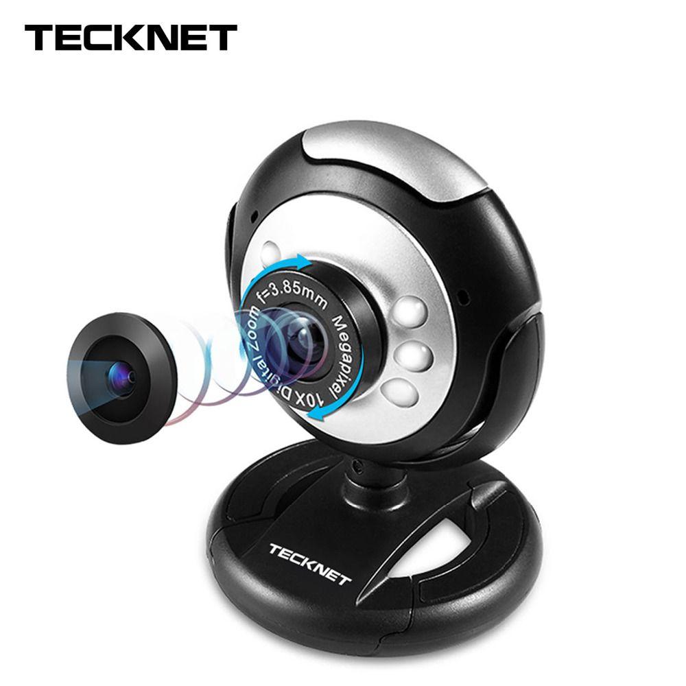 TeckNet C016 USB HD 720P Webcam 5 MegaPixel 5G Lens USB Microphone 6 LED Web Cam Camera
