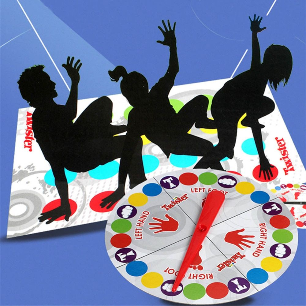 Classic Moves Challenge Dance Fingers Outdoor Sports Toy Twister Board Game English Version Party/Family Game for Children Adult