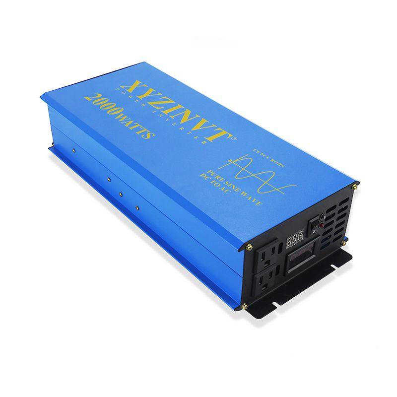 2000 W Reine Sinus Welle Solar-wechselrichter 24 V 230 V Auto Power Batterie Inverter Kühlschrank/TV Konverter 12 V 48 V 96 V DC zu 120 V 220 V 240 V AC