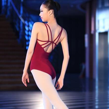 Sin Mangas Backless Spandex y Algodón Leotardos de Ballet Para Las Mujeres Ropa Práctica de La Danza Gimnasia Leotardos Ballet ropa de Baile Para Adultos