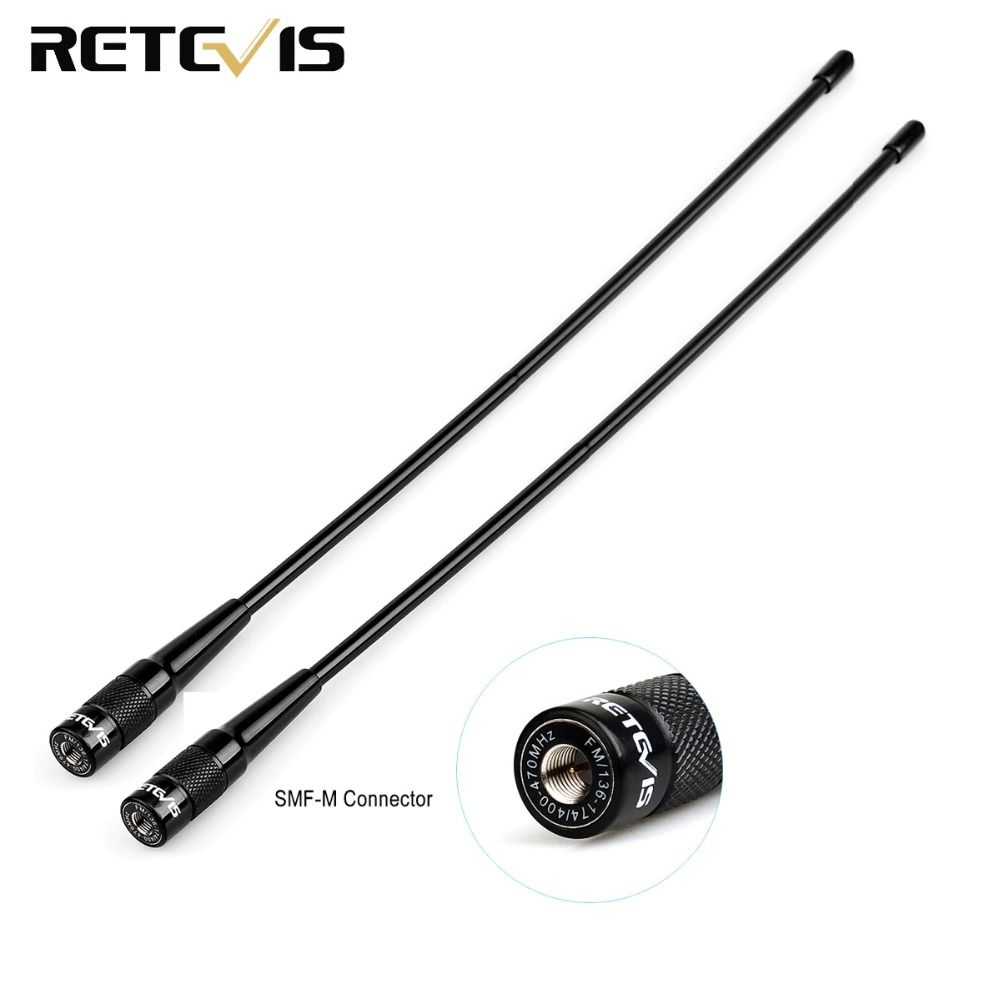 2pcs Retevis RHD-771 SMA-M Antenna Dual Band VHF/UHF For Retevis RT3 DMR Walkie Talkie Ham Radio Hf Transceiver C9030M
