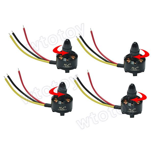 2 clockwise rotation and 2 anticlockwise rotation HJ2208 1400KV Brushless Motor for RC Helicopter/RC Aircraft