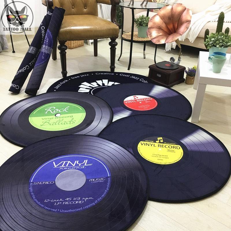 CD Tapis Tapis Coussin Antique Canapé Chaise Coussin Côté Tapis Chat Disque Vinyle Ronde Quelques Modèle D'étude Chambre Décorer tapis
