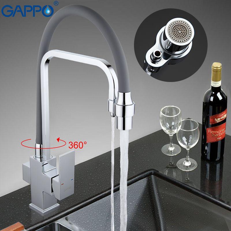 GAPPO kitchen mixer tap water filter tap torneira faucets sink 360 swivel flexible hose spout water kitchen crane faucet