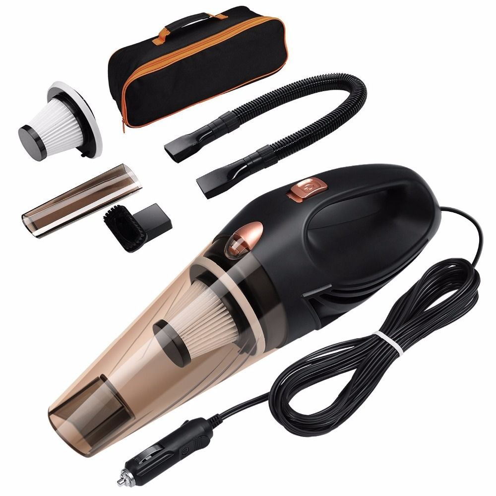 Car Vacuum Cleaner DC 12 <font><b>Volt</b></font> 120W with Handbag 4.8 KPA Cyclonic Wet / Dry Auto Portable Vacuums Cleaner Dust