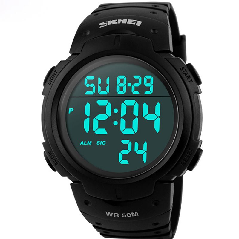 Skmei Luxury <font><b>Brand</b></font> Mens Sports Watches Dive 50m Digital LED Military Watch Men Fashion Casual Electronics Wristwatches Hot Clock