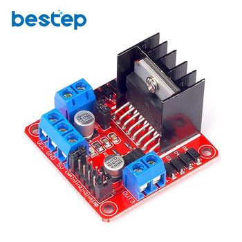 1 PCS Nouveau L298N Double Pont en H DC Stepper Motor Pilote Carte contrôleur Module pour Uno R3 Raspberry Pi Starter DIY Kit
