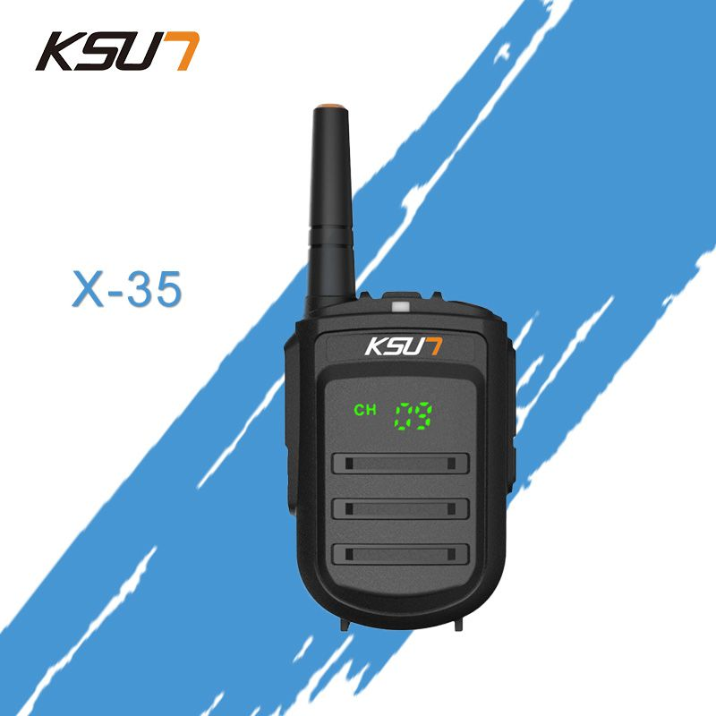 Walkie Talkie KSUN X-35tfsi 8w Handheld Baofeng Uhf 400-470mhz 128channel LED display Two Way Radio Portable Cb