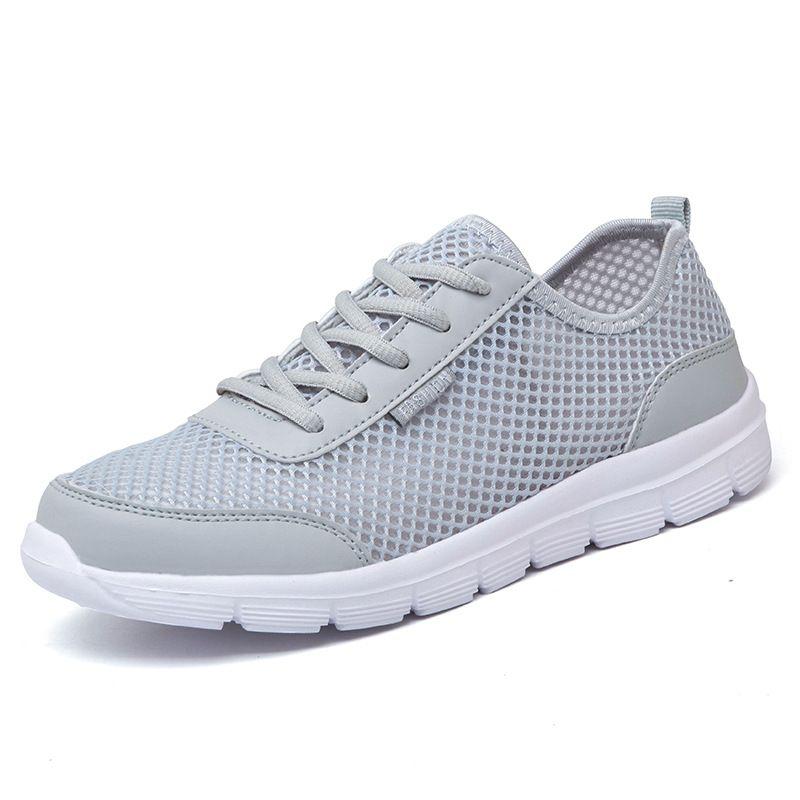 Plus grande Taille 35-46 Hommes Chaussures lumière 2017 D'été De Mode respirant Hommes Occasionnels Chaussures hommes sneakers de Haute Qualité Maille Plate chaussures