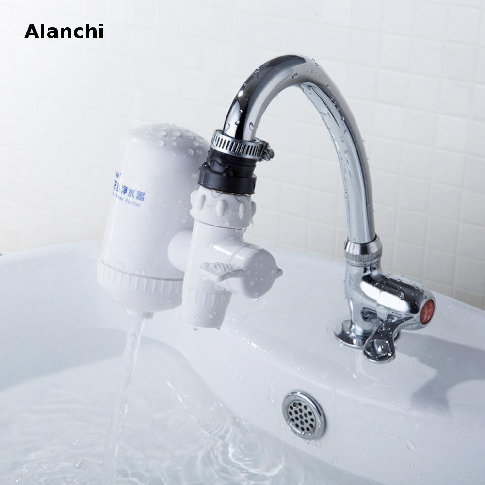 Purificateur d'eau de filtre de robinet de filtre en céramique portatif, ioniseur alcalin d'eau de filtre à eau enlève 99% contaminants
