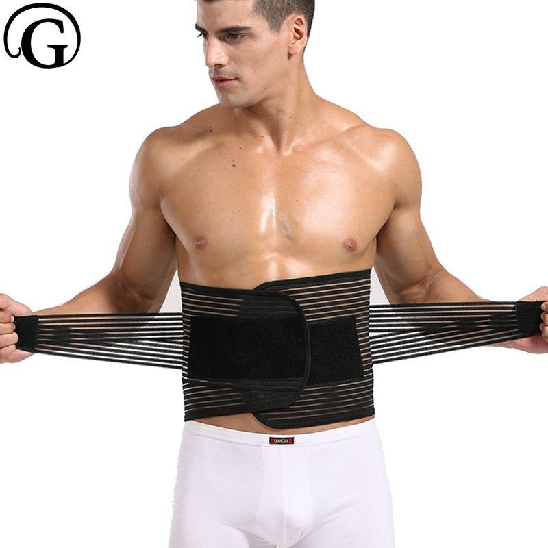 Dropshipping Male Slim wrap <font><b>Waist</b></font> Cinchers Back Supportor Slimming Belt Men Bone Control Abdomen Bands Big Belly Girdle