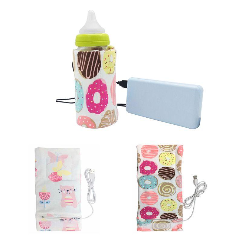 USB Baby Flasche Wärmer Tragbare Reise Milch Tasse Wärmer Heizung Infant Fütterung Flasche Tasche Lagerung Abdeckung Isolierung Thermostat