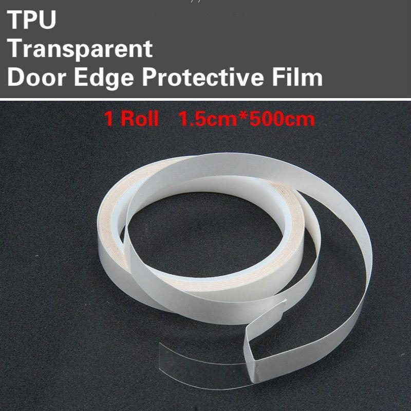 1.5 cm * 500 cm/Rouleau TPU Porte Bord De Protection Transparent Film De Voiture Corps Garde Pare-chocs Capot Paint Protection autocollant de voiture Car Styling