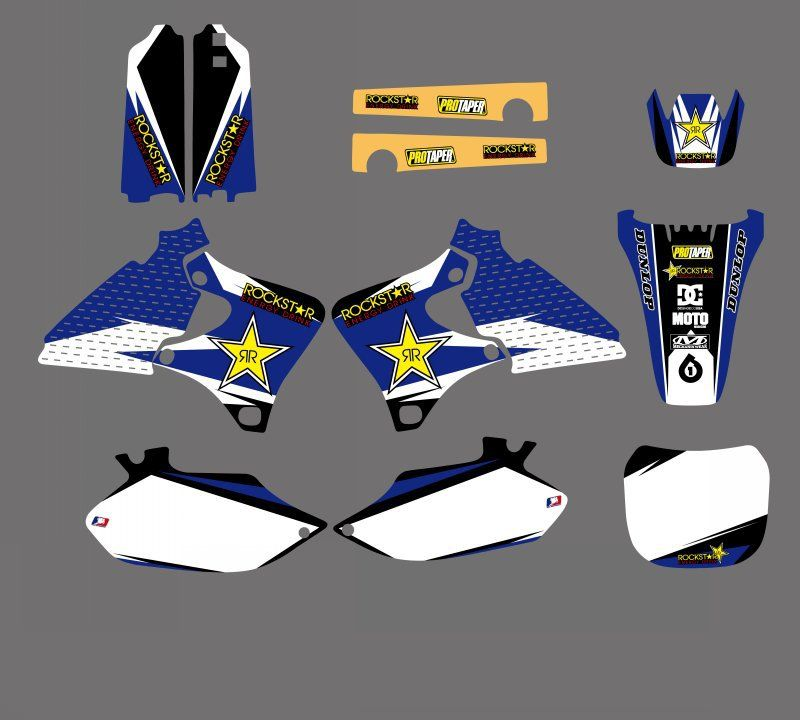 GRAPHICS&BACKGROUNDS DECALS STICKERS Kit for Yamaha 4 STROKE YZ250F YZ400F YZ426F YZ 250F 400F 426F 1999 2000 2001 2002