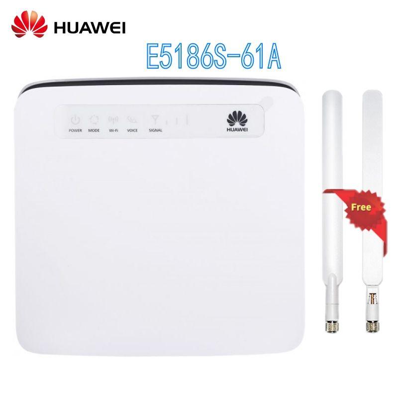 Unlocked Huawei E5186 E5186s-61a with Antenna 4G LTE CAT6 300Mbps CPE Wireless Router Gateway Hotspot PK B593,B310,E5172 b315
