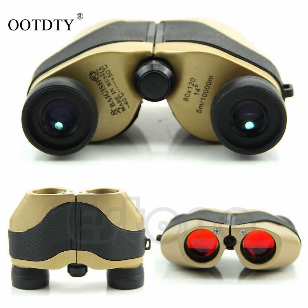 Outdoor Accessories 80x120 LED Gold Spotting Scope Binoculars Telescope Optical Zoom 5m-10000M