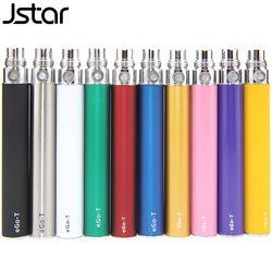 5pcs/lot Jstar EGO T Battery for Electronic Cigarette E-cig ego 510 Thread match CE4 CE5 MT3 650mah 900mah 1100mah 11 Colors