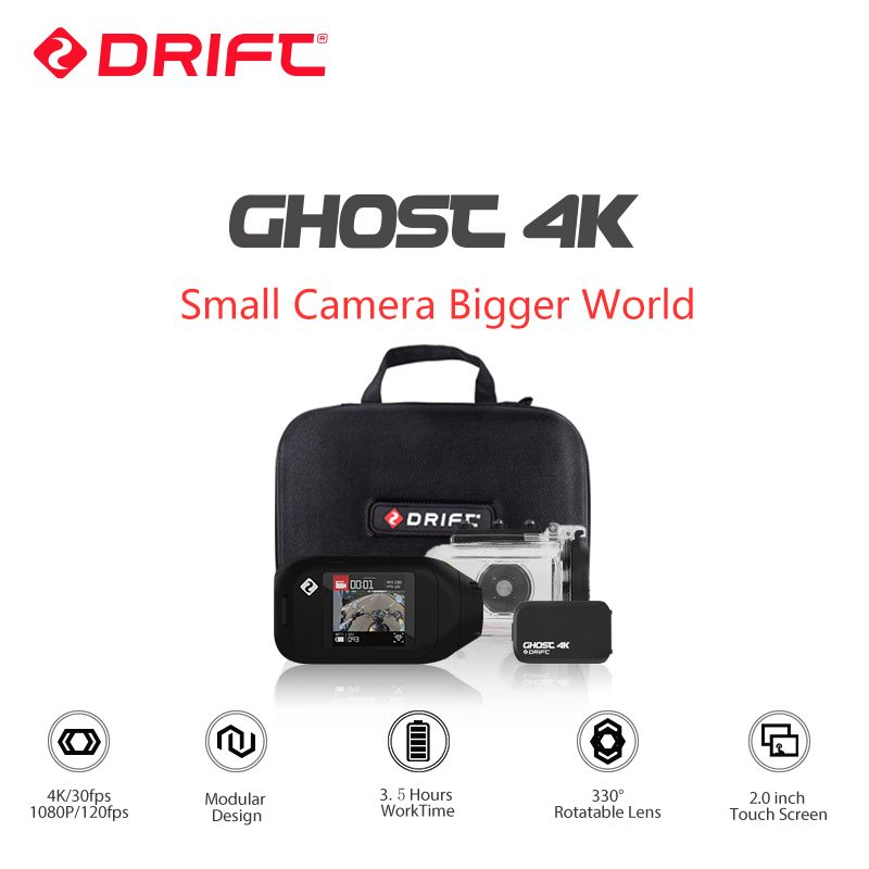 Drift Geist 4K Motorrad Version Action Kamera Ambarella Sport Mini Kamera ARM 12MP CMOS EIS Dreh Objektiv WiFi Live streaming