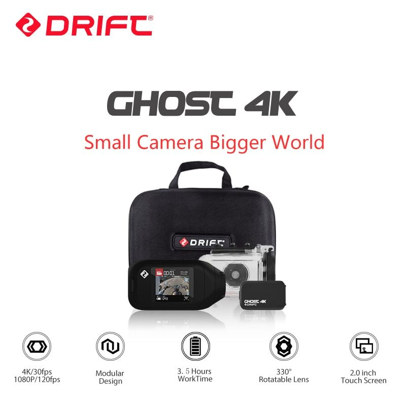 Drift Ghost 4K Motorcycle Version Action Camera Ambarella Sports Mini Camera ARM 12MP CMOS EIS Rotary Lens WiFi Live Streaming