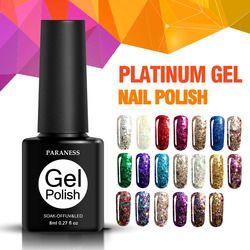 Paraness 3d Coloré Chanceux Gel Vernis À Ongles Semi Permanent Gel Vernis Soak Off Diamant Glitter UV Gel Led Nail Art