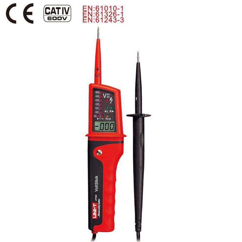 Écran Lcd Uni T Ut15c testeur de tension étanche Ip65 Type testeurs de tension voltmètre moto Voltimetro
