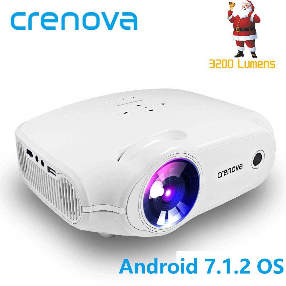 CRENOVA 2018 Date LED Projecteur Pour Full HD 4 k * 2 k Vidéo Projecteur Android 7.1.2 OS Home Cinéma film Beamer Proyector