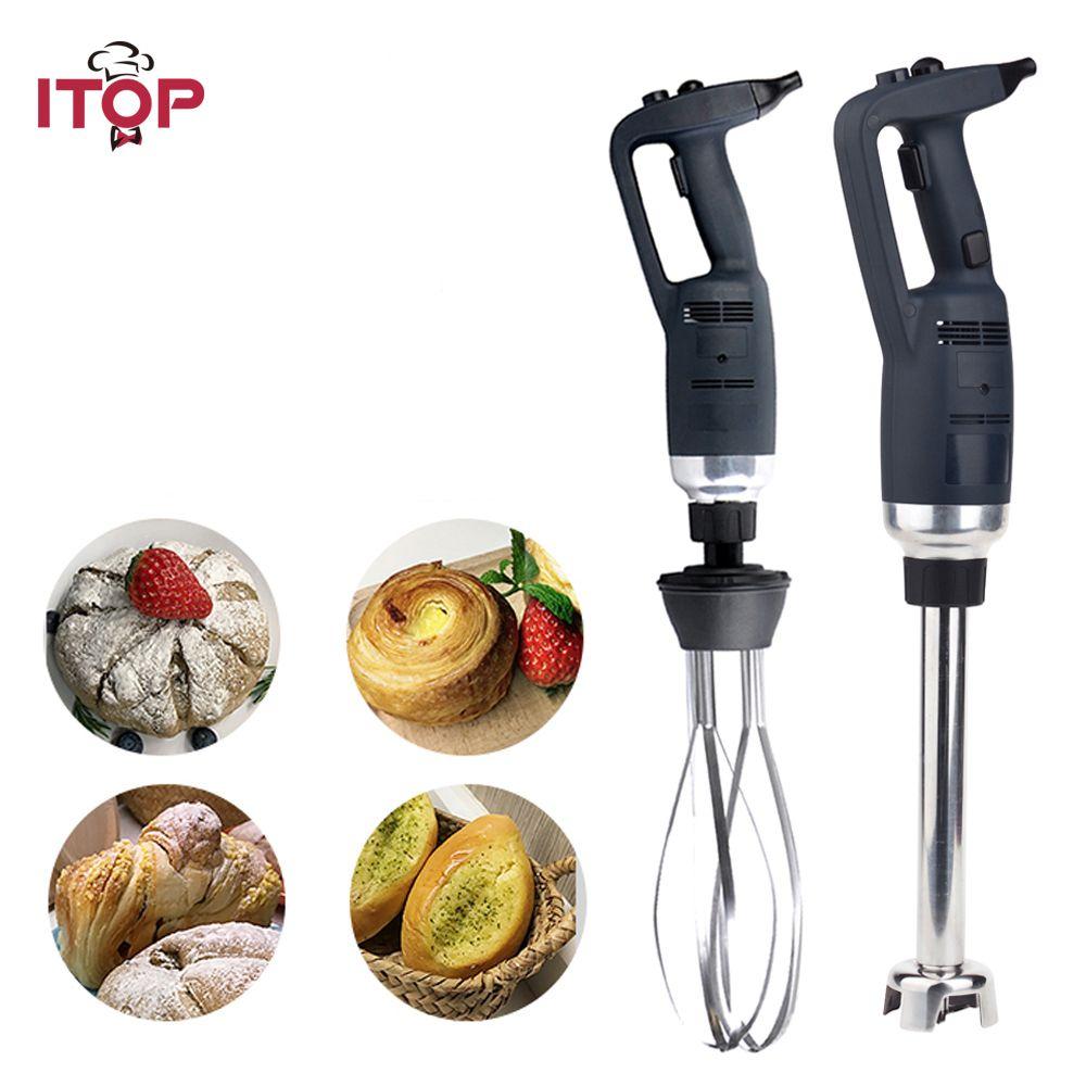 ITOP 3pcs/set Handheld Blender Commercial Mixing Machine 1 Blender + 1 Whisk + 1 Tube Stainless Steel Blender
